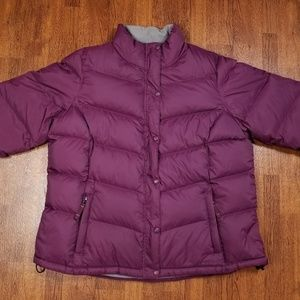 L.L. BEAN DOWN PUFFER JACKET WOMENS 1X REGULAR PLU